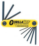 9 Piece SAE Hex GorillaGrip® Foldup Tool