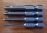 "4 Piece 1/4"" Long Hex Drive  JIS-Phillips Bit Set"